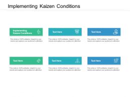 Implementing Kaizen Conditions Ppt Powerpoint Presentation Slides Picture Cpb