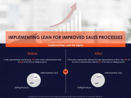 Implementing Lean For Improved Sales Processes