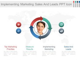 Implementing Marketing Sales And Leads Ppt Icon