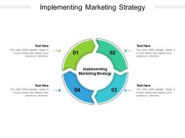 Implementing Marketing Strategy Ppt Powerpoint Presentation Summary Diagrams Cpb
