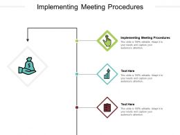 Implementing Meeting Procedures Ppt Powerpoint Presentation Portfolio Clipart Cpb