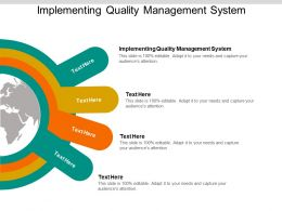 Implementing Quality Management System Ppt Powerpoint Model Cpb