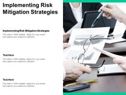 Implementing Risk Mitigation Strategies Ppt Powerpoint Presentation Styles Graphics Template Cpb
