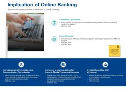 Implication Of Online Banking Competitive Environment Ppt Graphics Design