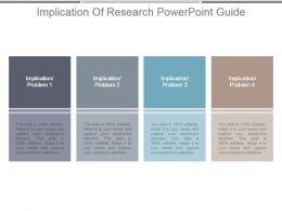 Implication Of Research Powerpoint Guide