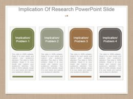 Implication Of Research Powerpoint Slide