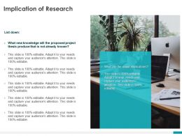 Implication Of Research Ppt Powerpoint Presentation Infographics