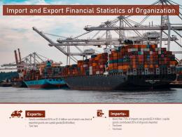 Import And Export Financial Statistics Of Organization