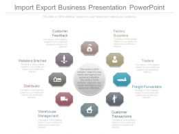 Import Export Business Presentation Powerpoint