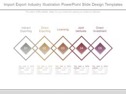 Import Export Industry Illustration Powerpoint Slide Design Templates
