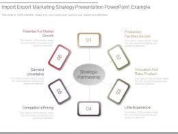 Import Export Marketing Strategy Presentation Powerpoint Example