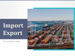 Import Export Techniques Business Organization Dashboard Marketing Strategies