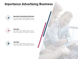 Importance Advertising Business Ppt Powerpoint Presentation Ideas Infographic Template Cpb