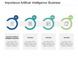 Importance Artificial Intelligence Business Ppt Powerpoint Presentation Show Designs Cpb