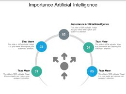 Importance Artificial Intelligence Ppt Powerpoint Presentationmodel Brochure Cpb