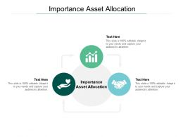 Importance Asset Allocation Ppt Powerpoint Presentation Visual Outline Cpb