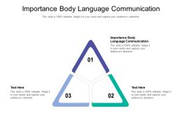 Importance Body Language Communication Ppt Powerpoint Presentation Infographic Cpb