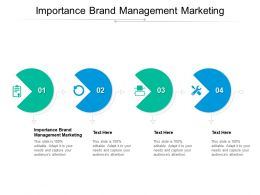 Importance Brand Management Marketing Ppt Powerpoint Presentation Styles Templates Cpb