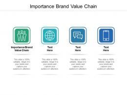Importance Brand Value Chain Ppt Powerpoint Presentation Portfolio Files Cpb
