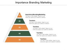 Importance Branding Marketing Ppt Powerpoint Presentation Ideas Background Cpb