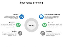 Importance Branding Ppt Powerpoint Presentation Summary Slide Portrait Cpb