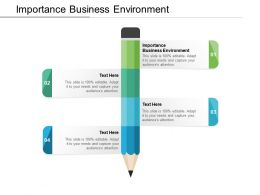 Importance Business Environment Ppt Powerpoint Presentation Infographics Grid Cpb
