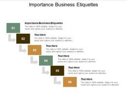 Importance Business Etiquettes Ppt Powerpoint Presentation Styles Templates Cpb