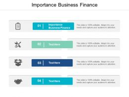 Importance Business Finance Ppt Powerpoint Presentation Inspiration Example Cpb