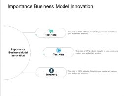 Importance Business Model Innovation Ppt Powerpoint Presentation Show Cpb