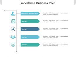 Importance Business Pitch Ppt Powerpoint Presentation Infographics Summary Cpb