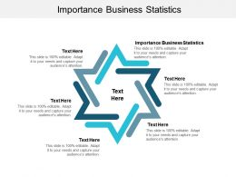 Importance Business Statistics Ppt Powerpoint Presentation Infographics Cpb