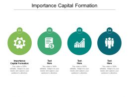 Importance Capital Formation Ppt Powerpoint Presentation Templates Cpb