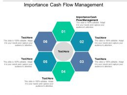 Importance Cash Flow Management Ppt Powerpoint Presentation Visuals Cpb