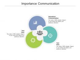 Importance Communication Ppt Powerpoint Presentation Icon Portfolio Cpb