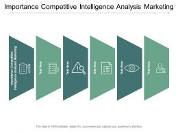Importance Competitive Intelligence Analysis Marketing Ppt Powerpoint Presentation Visual Aids Cpb