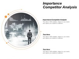 Importance Competitor Analysis Ppt Powerpoint Presentation File Layout Ideas Cpb