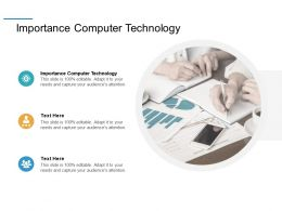 Importance Computer Technology Ppt Powerpoint Presentation Styles Graphics Example Cpb