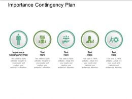 Importance Contingency Plan Ppt Powerpoint Presentation Pictures Layout Ideas Cpb