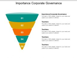 Importance Corporate Governance Ppt Powerpoint Presentation Styles Cpb