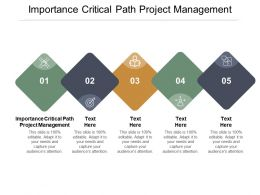 Importance Critical Path Project Management Ppt Powerpoint Presentation Styles Show Cpb