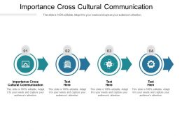 Importance Cross Cultural Communication Ppt Powerpoint Presentation Ideas Diagrams Cpb
