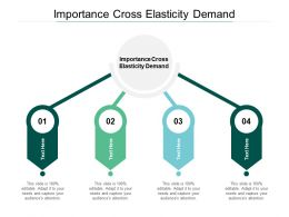Importance Cross Elasticity Demand Ppt Powerpoint Presentation Inspiration Cpb