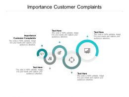 Importance Customer Complaints Ppt Powerpoint Presentation Styles Layouts Cpb