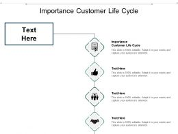 Importance Customer Life Cycle Ppt Powerpoint Presentation Pictures Slide Download Cpb