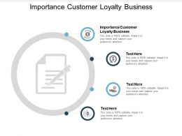 Importance Customer Loyalty Business Ppt Powerpoint Presentation Infographic Template Master Slide Cpb