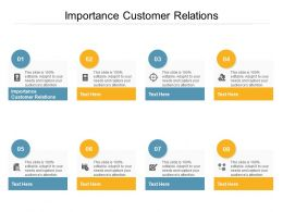 Importance Customer Relations Ppt Powerpoint Presentation Styles Graphics Design Cpb