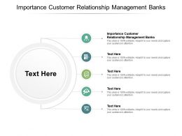 Importance Customer Relationship Management Banks Ppt Powerpoint Presentation Infographic Cpb