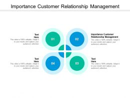 Importance Customer Relationship Management Ppt Powerpoint Presentation File Aids Cpb