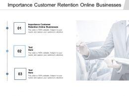 Importance Customer Retention Online Businesses Ppt Powerpoint Presentation Portfolio Cpb