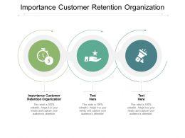 Importance Customer Retention Organization Ppt Powerpoint Presentation Slides Cpb